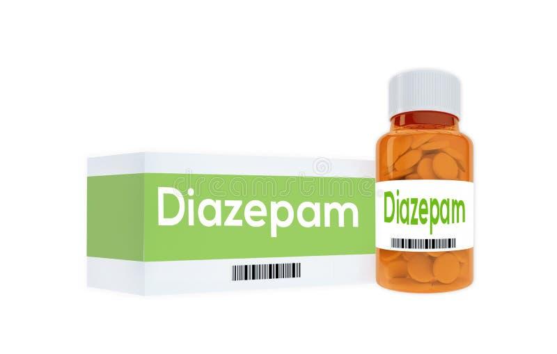 Diazepam - farmaceutisch concept vector illustratie