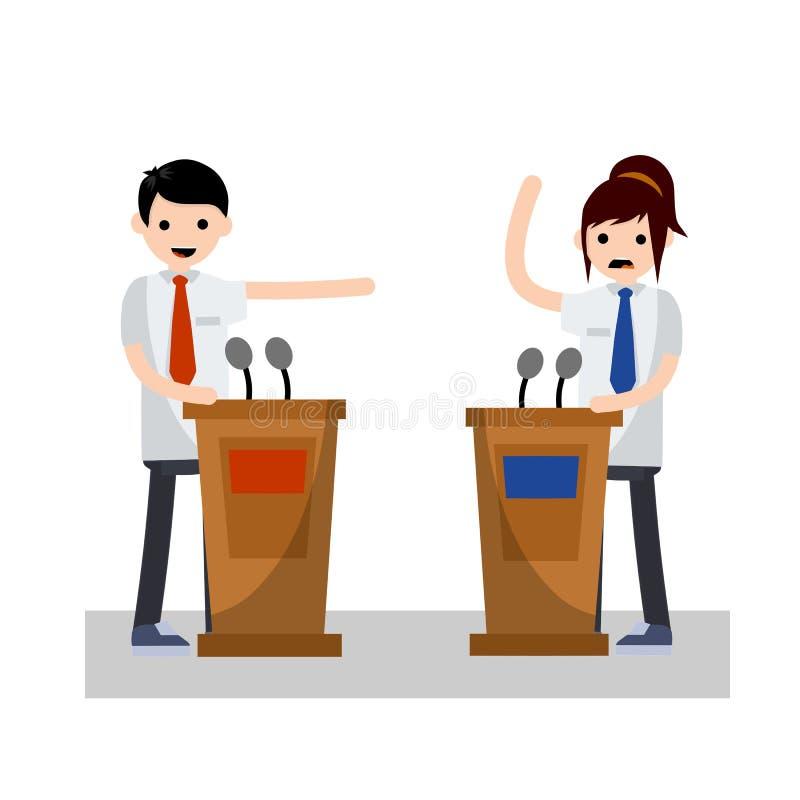 Dibattito presidenziale r illustrazione di stock