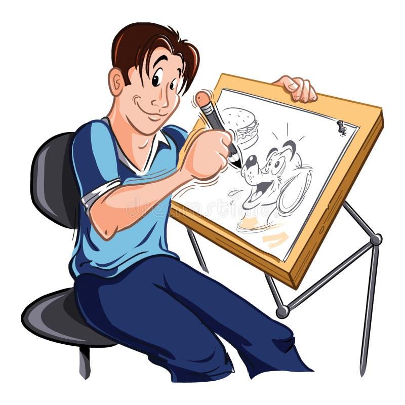 Dibujante stock de ilustración. Ilustración de artista ...