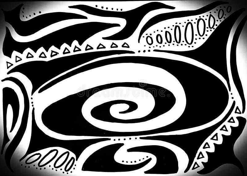 Dibujo abstracto de los círculos en cáscara subacuática del mar fotografía de archivo libre de regalías