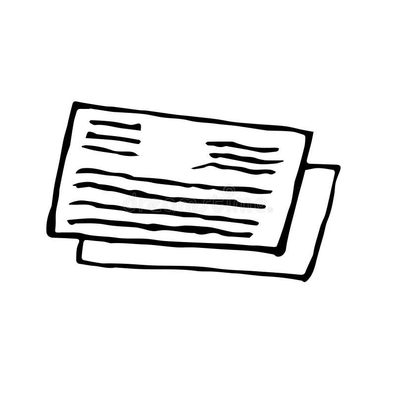 Dibujo abstracto del garabato del grunge Ejemplo de la postal del vector en estilo del garabato stock de ilustración