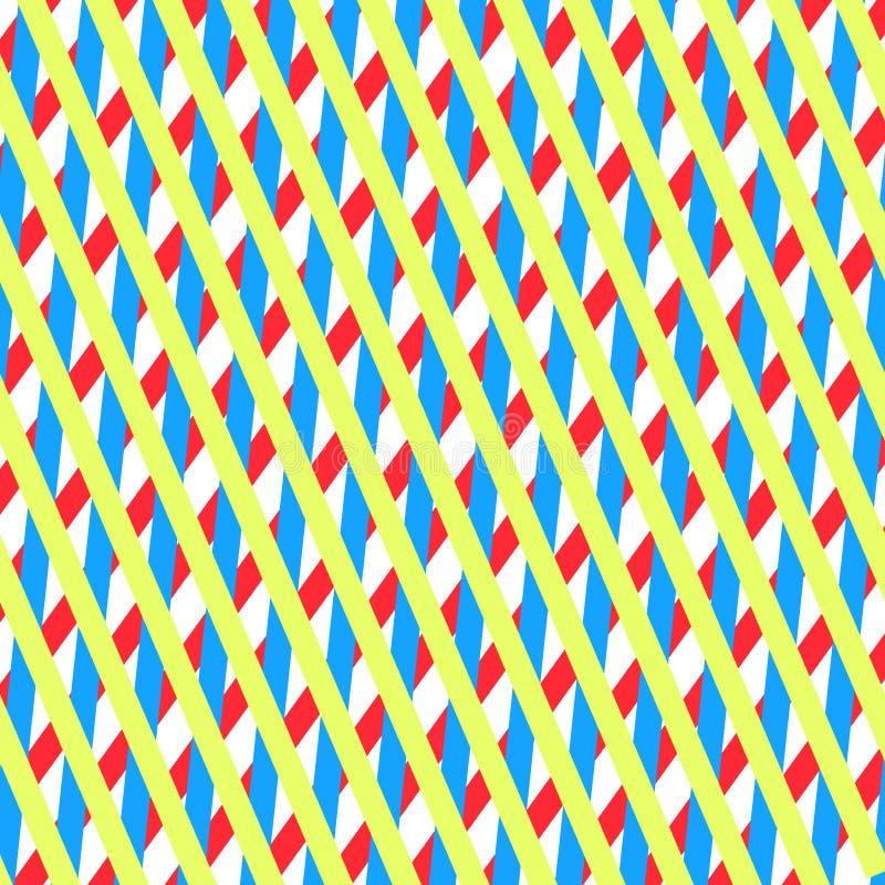 Dibujo abstracto: rayas coloreadas brillantes rosa, i azul, amarillo imagen de archivo libre de regalías
