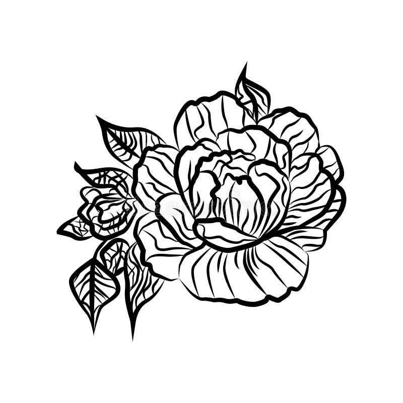 Excelente Páginas Para Colorear En Blanco Y Negro De Flores ...