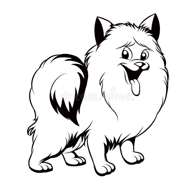Dibujo Blanco Y Negro Del Perro Ilustración del Vector - Ilustración ...