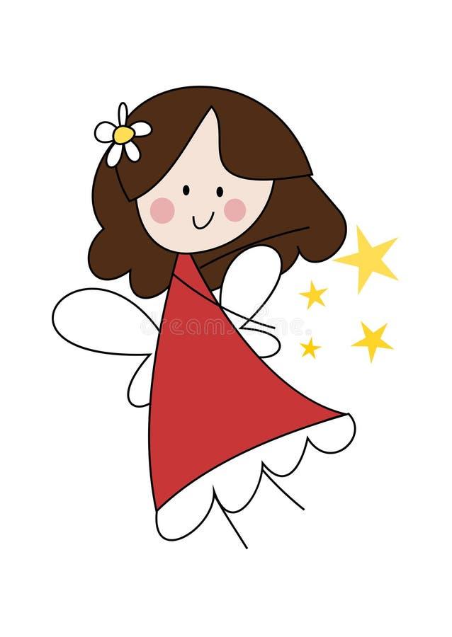 Pequeña muchacha de hadas linda stock de ilustración