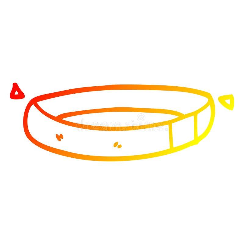 Dibujo creativo de línea de degradado caliente collar de perros libre illustration