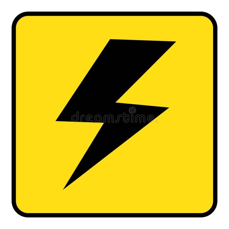 Dibujo de alto voltaje del icono por el ejemplo ilustración del vector