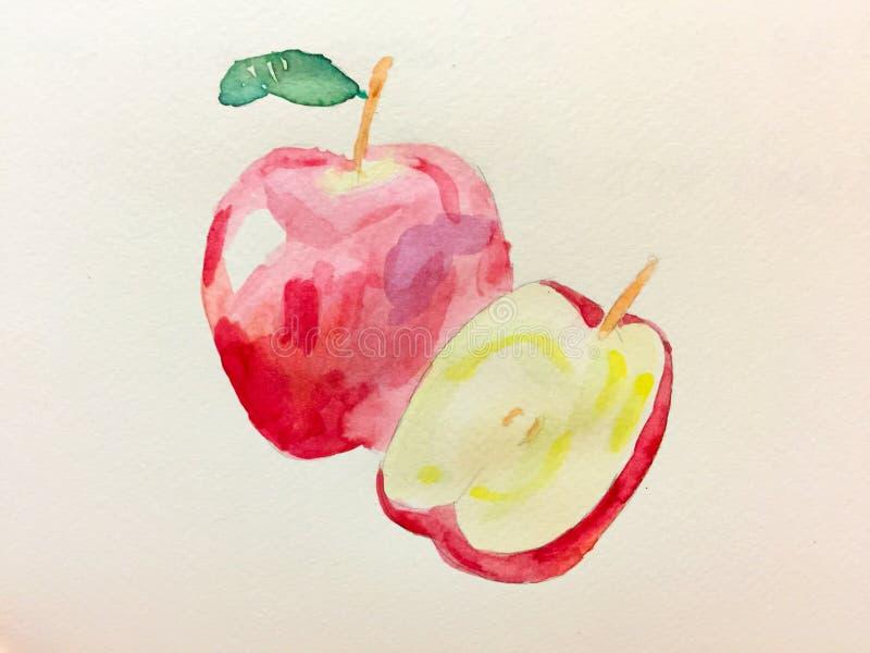 Dibujo de Apple imagen de archivo libre de regalías