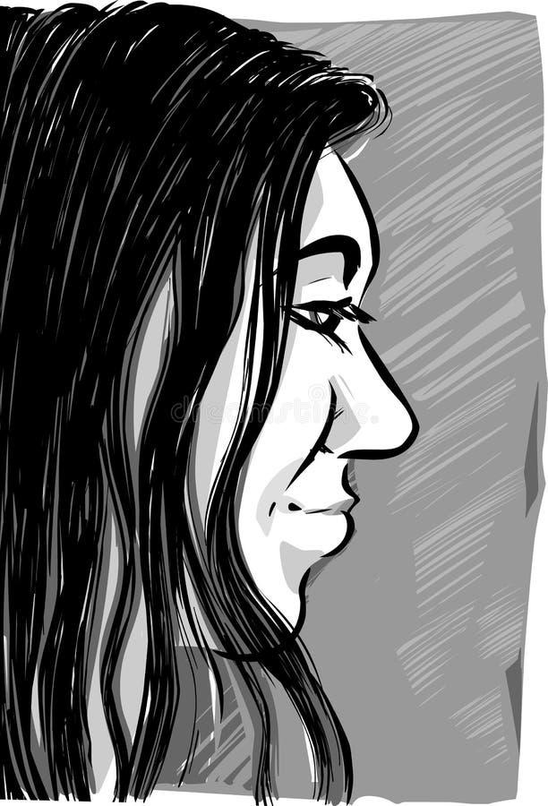 Dibujo de bosquejo de la mujer libre illustration