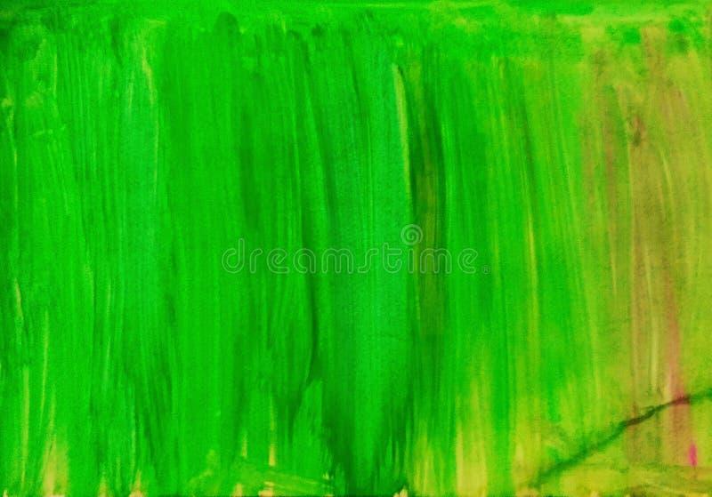 Dibujo de caída de color verde imagenes de archivo