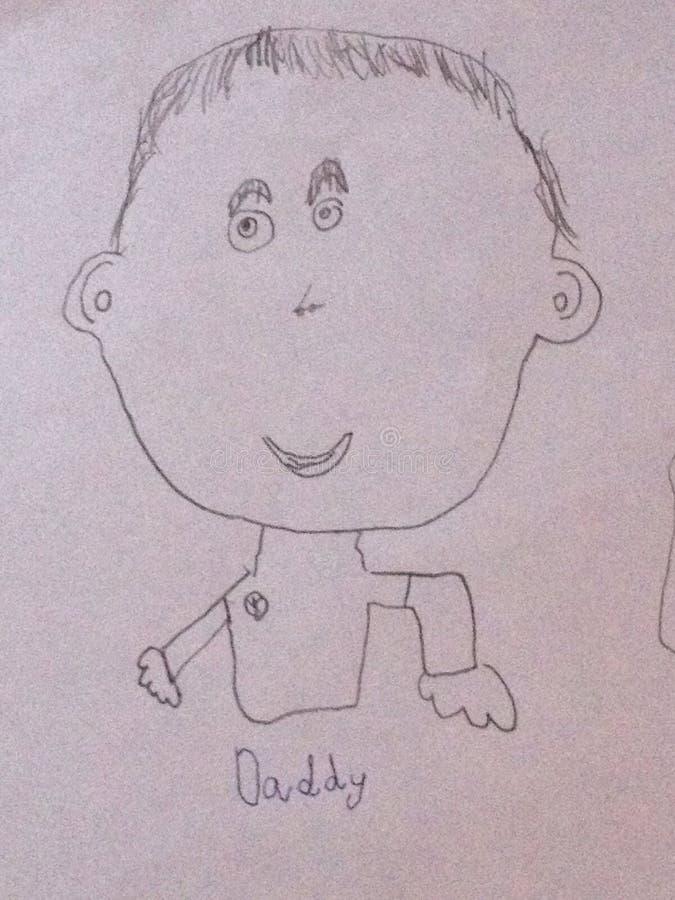 Dibujo de Childs de un papá fotos de archivo