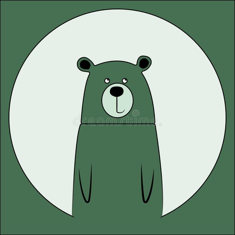 Dibujo de dibujos animados de oso sonriente. Icono de animal zoológico salvaje. Una mascota adorable y ligera. Fauna silvestre in ilustración del vector