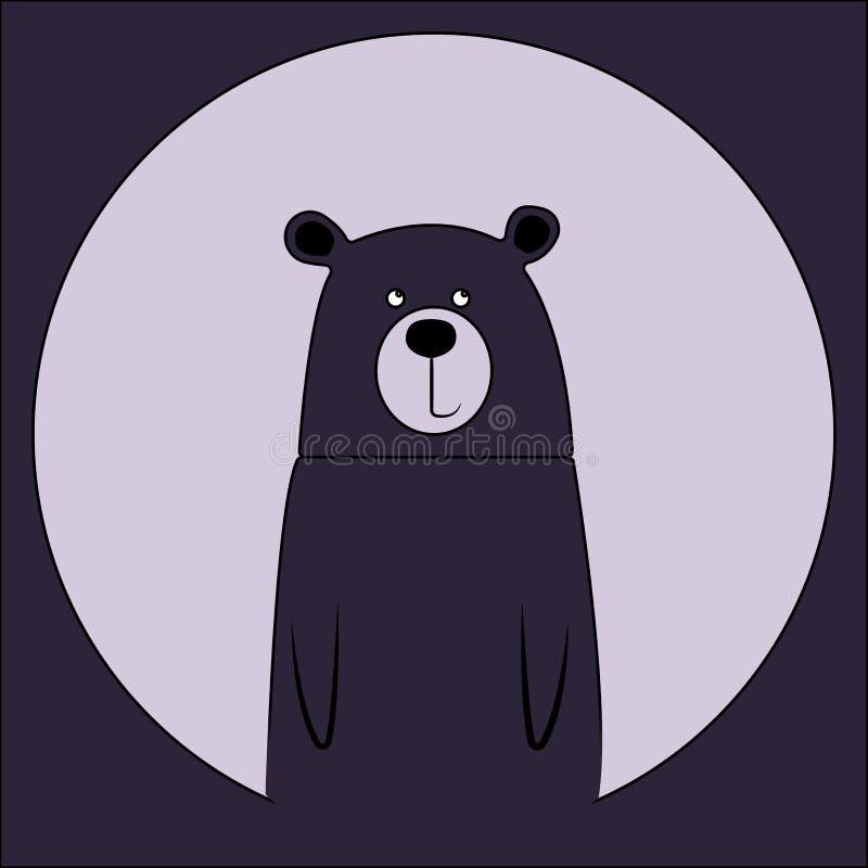Dibujo de dibujos animados de oso sonriente. Icono de animal zoológico salvaje. Una mascota adorable y ligera. Fauna silvestre in libre illustration
