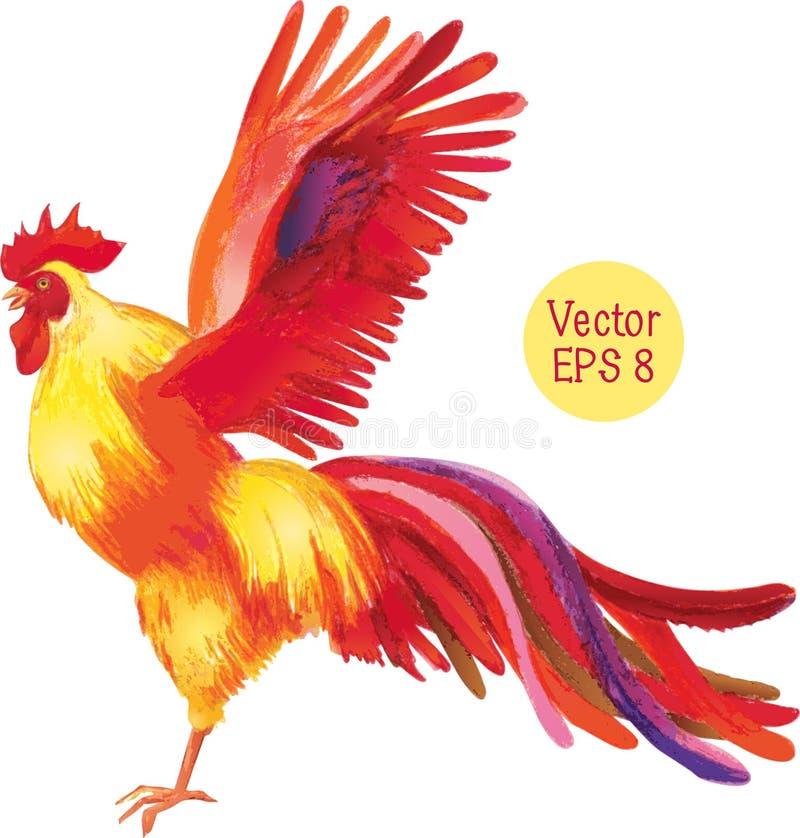 Dibujo de lápiz de un gallo Ilustración del vector libre illustration