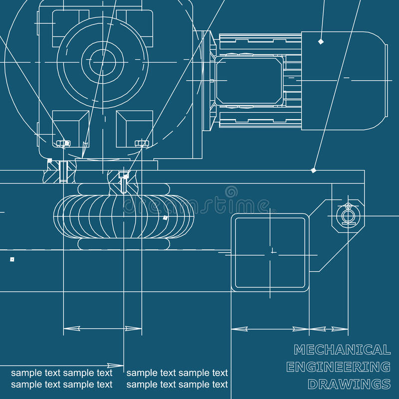 Dibujo de la ingeniería industrial libre illustration