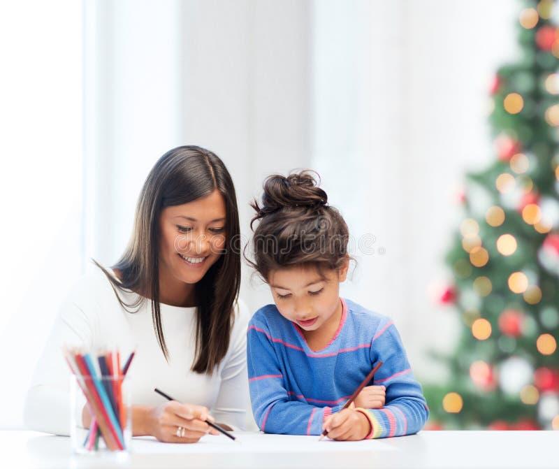 Dibujo de la madre y de la hija foto de archivo libre de regalías