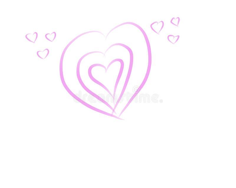 Dibujo de la mano del amor imagen de archivo libre de regalías