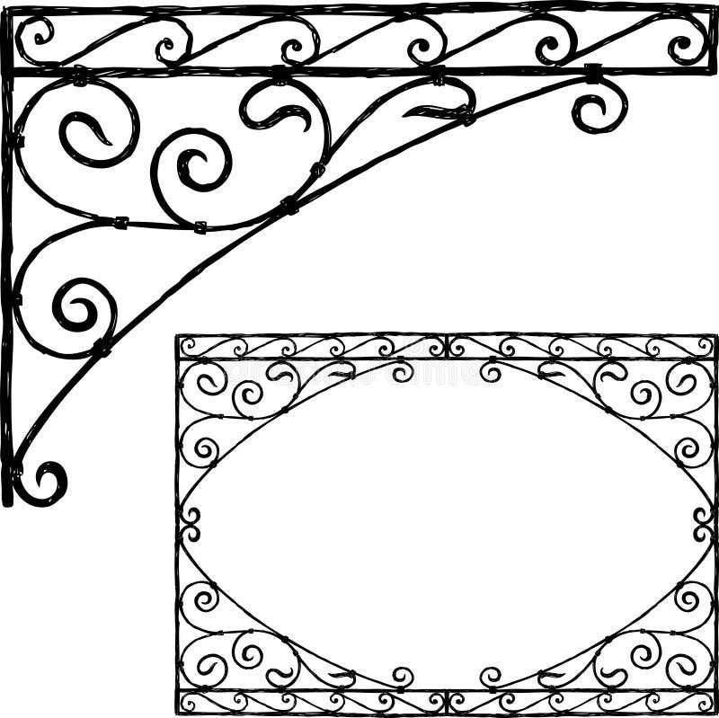 Dibujo de la mano de un elemento arquitectónico del vintage libre illustration