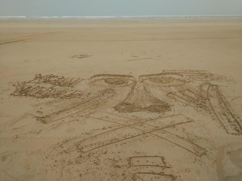 Dibujo de la playa foto de archivo libre de regalías