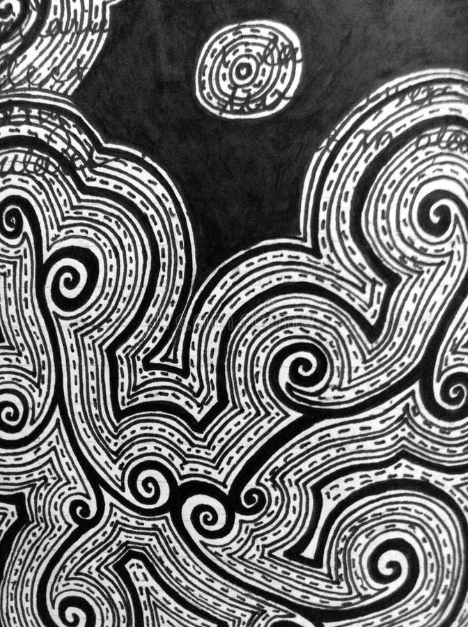 Dibujo de la tinta de los remolinos imagen de archivo libre de regalías