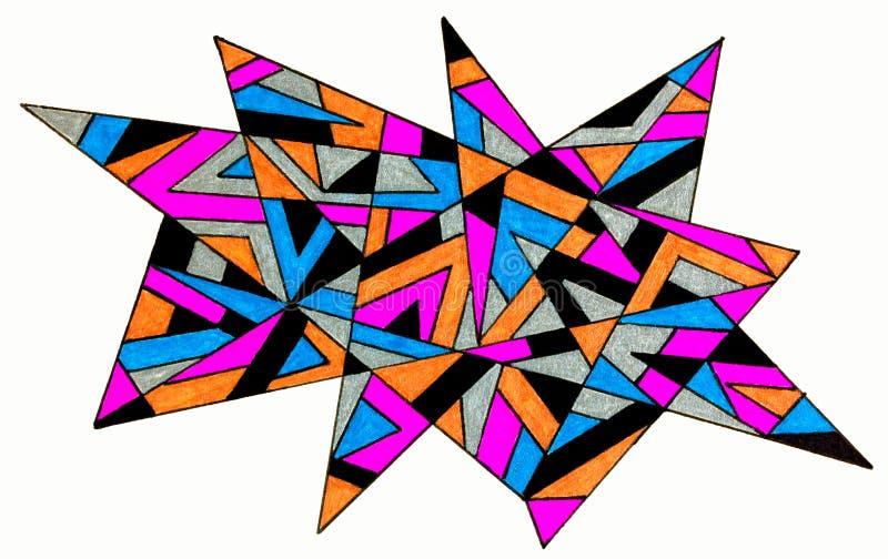 Dibujo de punta de la pluma del gel stock de ilustración