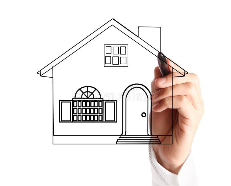 Dibujo de un modelo de la casa stock de ilustración