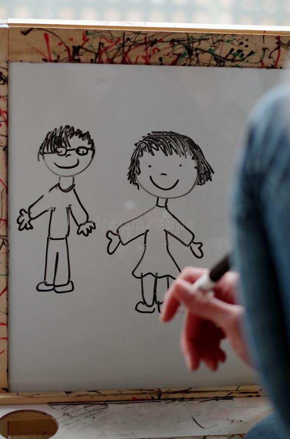 Dibujo de una familia foto de archivo libre de regalías