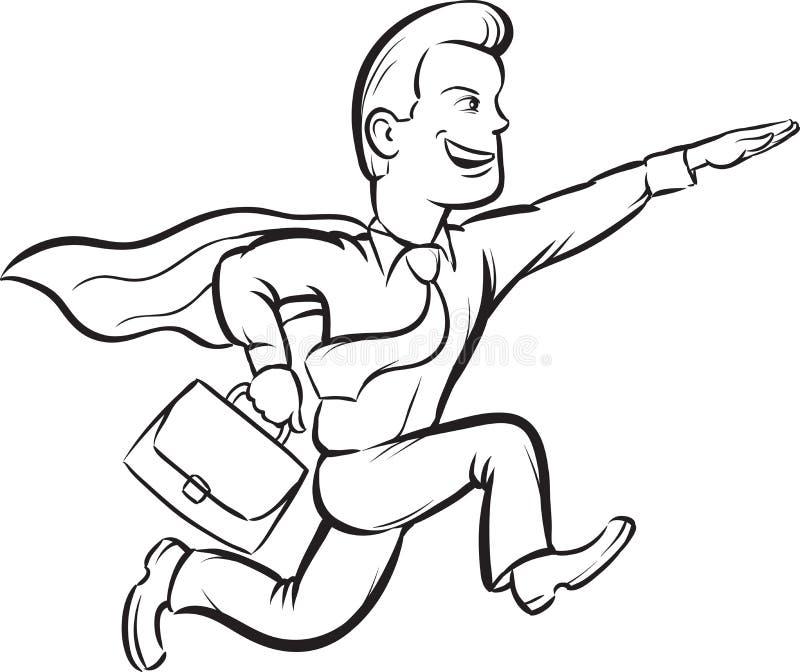Dibujo De Whiteboard - Hombre De Negocios Que Corre Como Superhombre ...