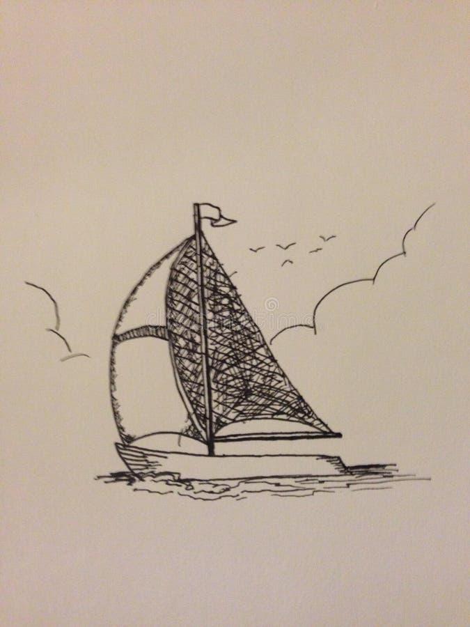 Dibujo del barco foto de archivo