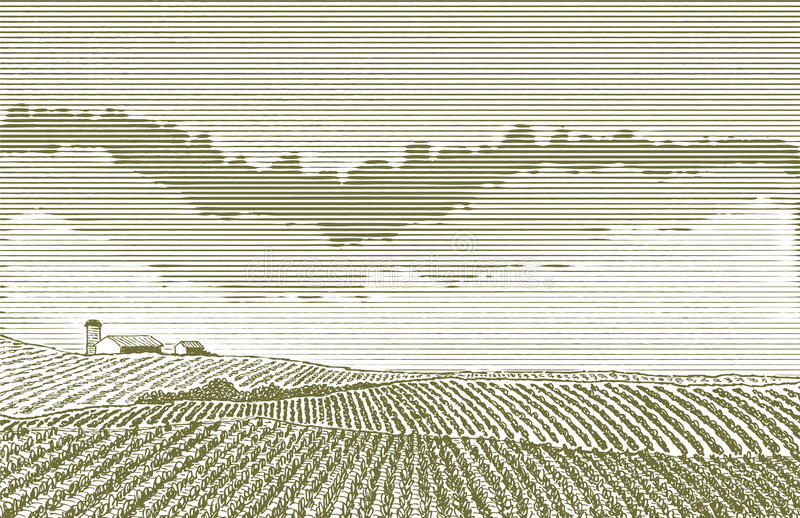 Dibujo del campo de granja libre illustration