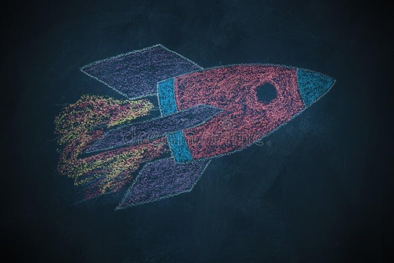 Dibujo del cohete libre illustration