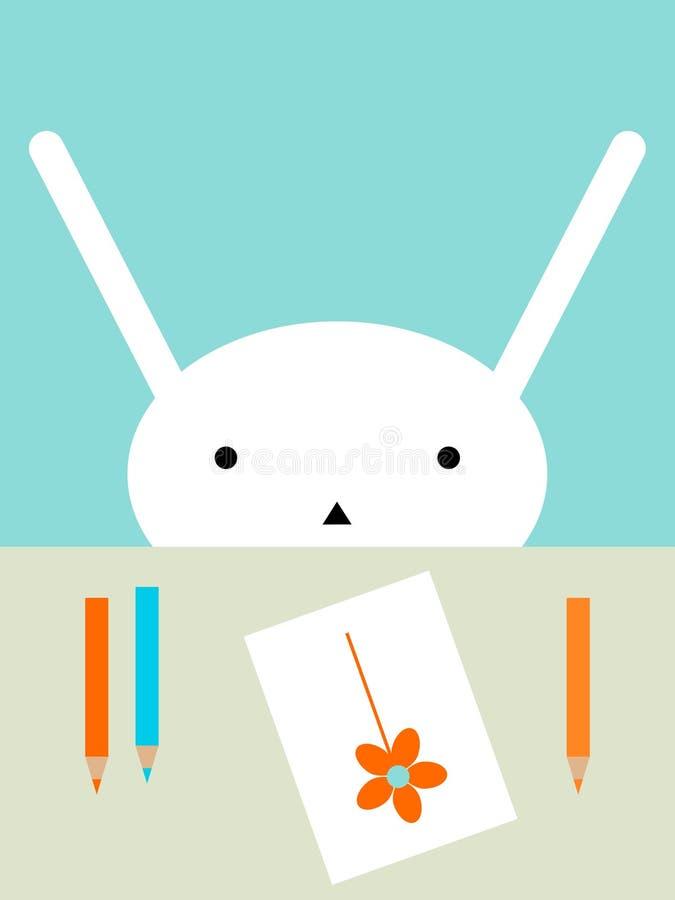 Dibujo del conejito foto de archivo