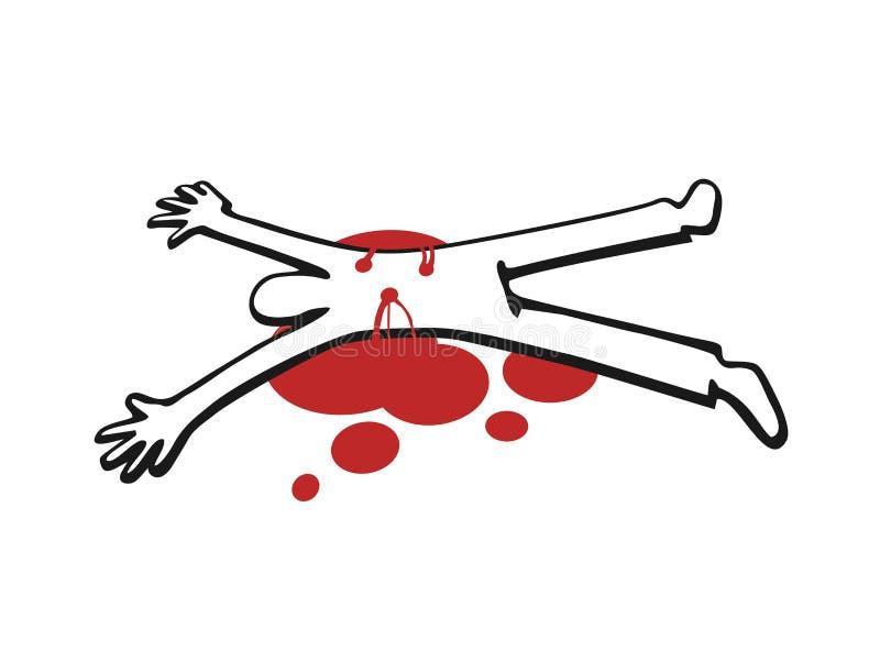 Dibujo del hombre muerto ilustración del vector. Ilustración de hombre -  167230256