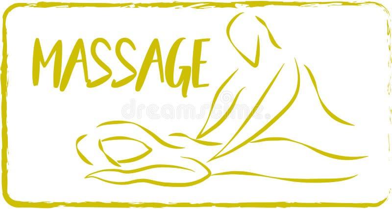 Dibujo del masaje stock de ilustración
