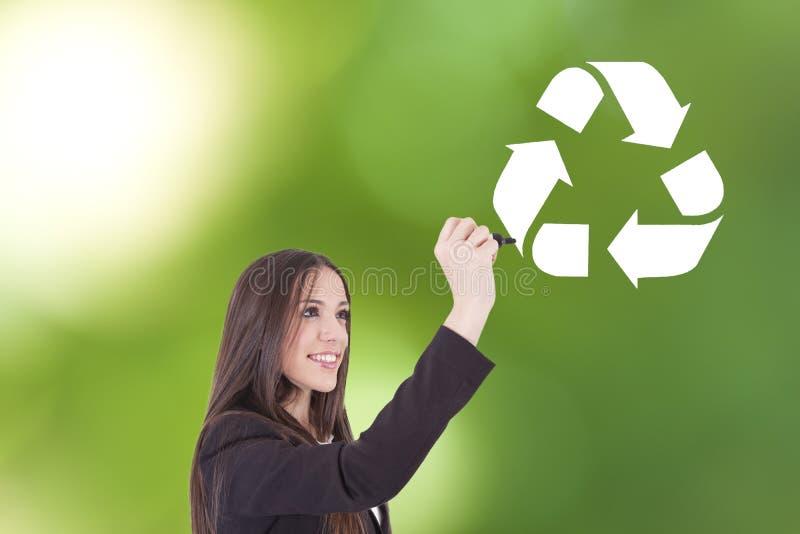 Dibujo del símbolo del reciclaje fotos de archivo libres de regalías