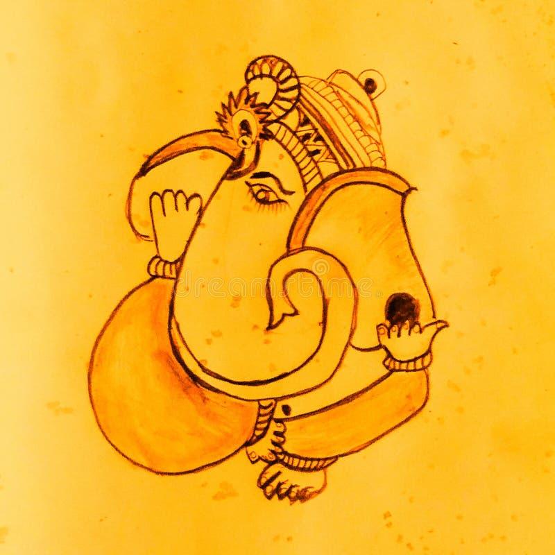 Dibujo del Señor Ganesh fotos de archivo