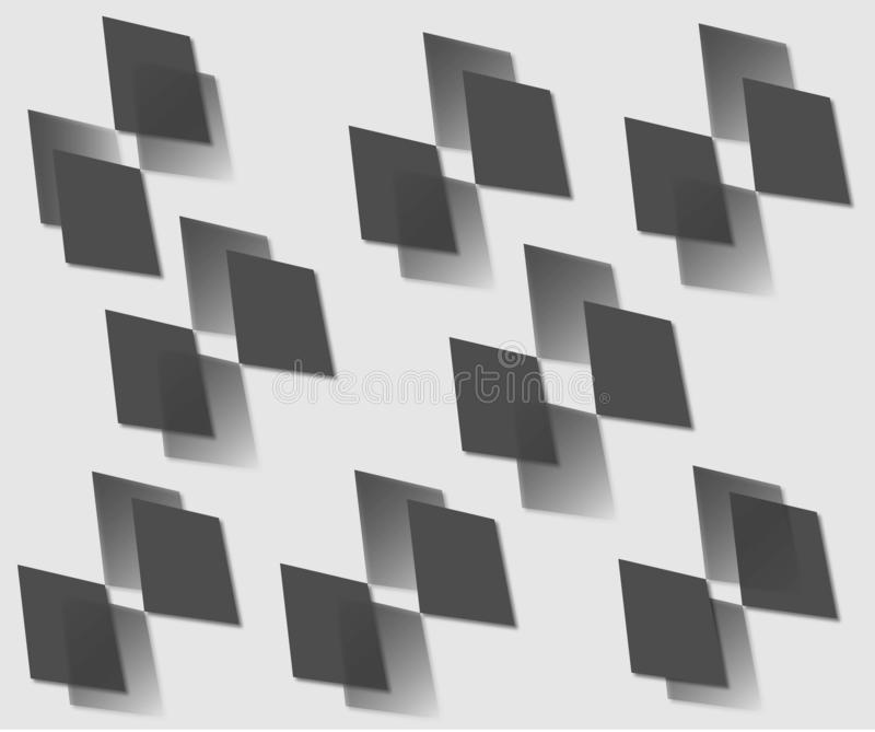 Dibujo del vector de diamantes negros stock de ilustración