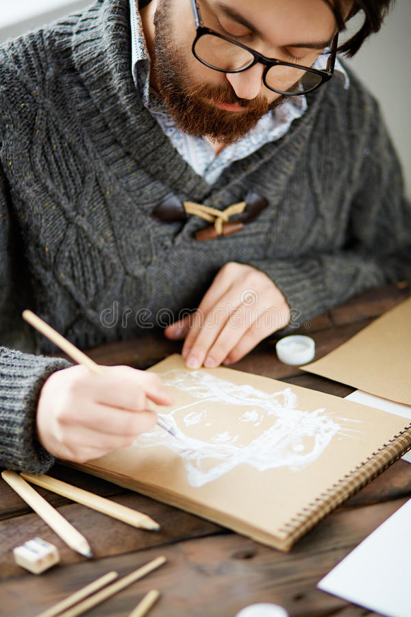Dibujo en el ocio imagen de archivo libre de regalías