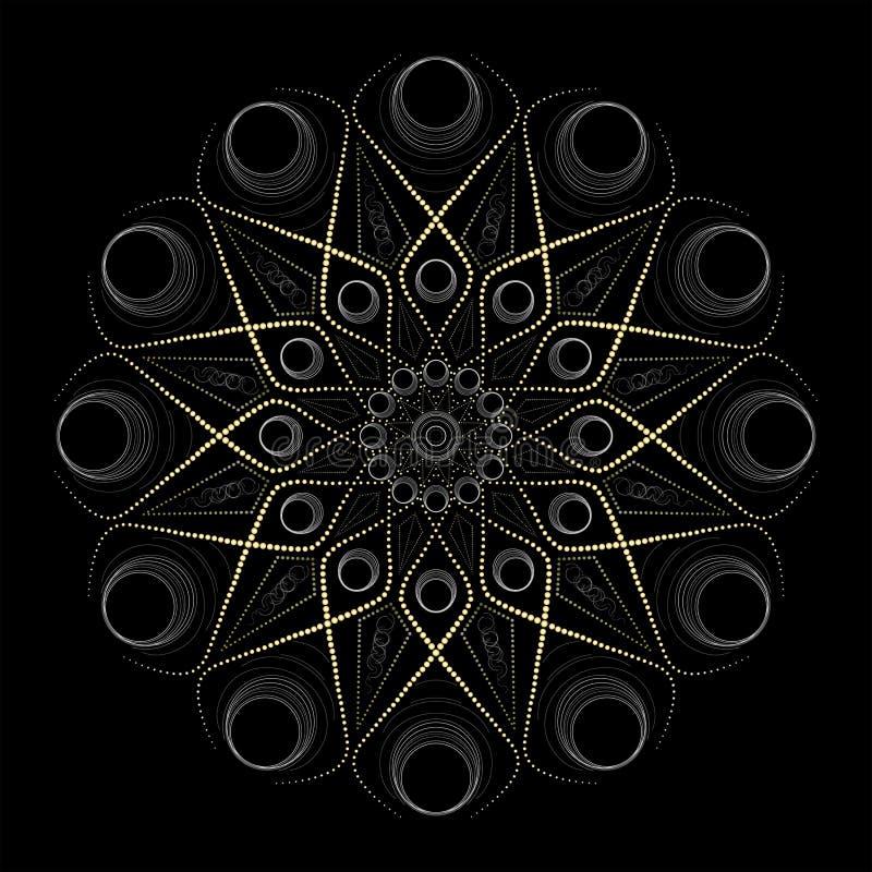 Dibujo esotérico, yoga y meditación de la mandala libre illustration
