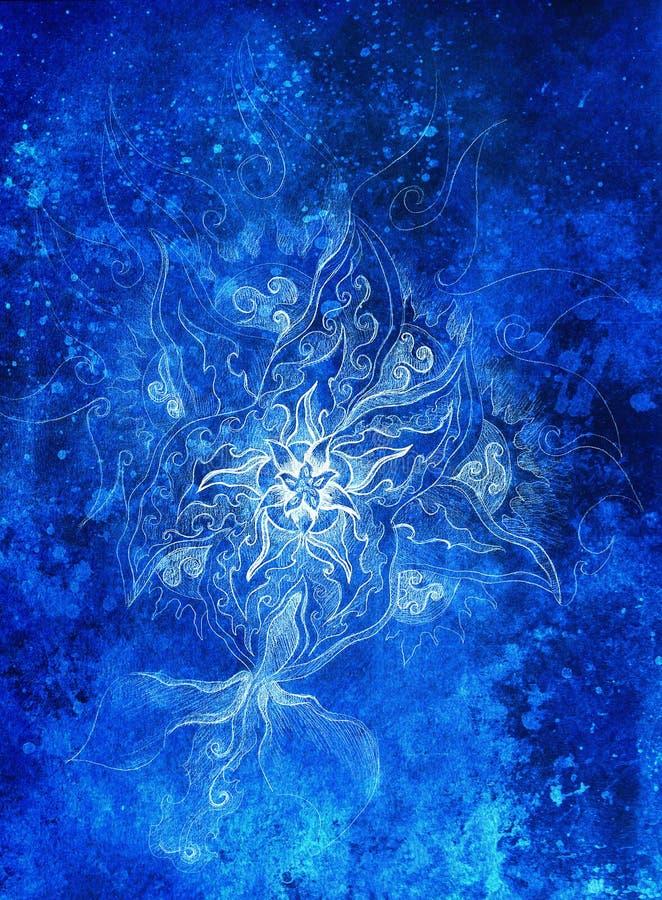 Dibujo Floral Del Filigran Ornamental Con Color Congelado Del ...