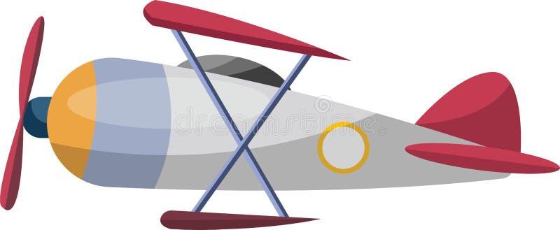 Dibujo gris antiguo del avión caricaturista, ilustración vectorial libre illustration