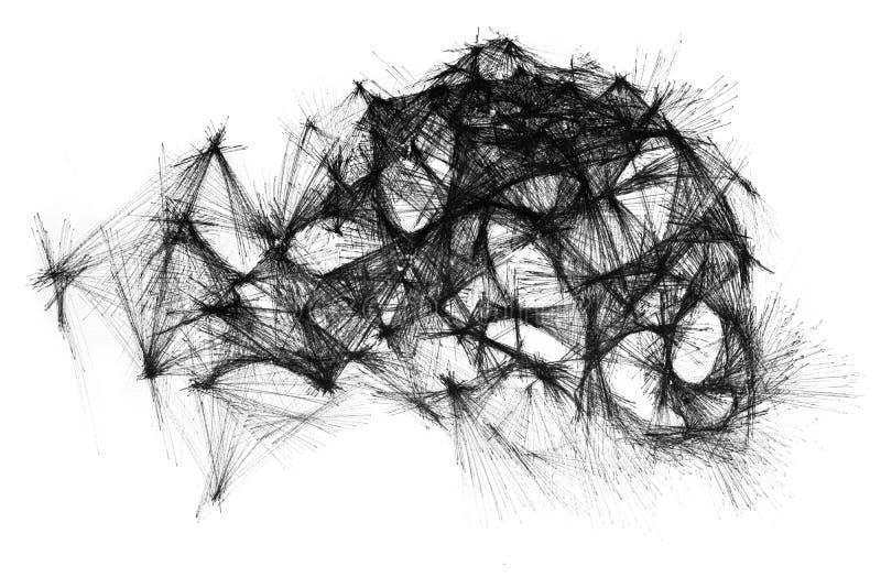 Dibujo hecho a mano de un modelo único y abstracto ilustración del vector