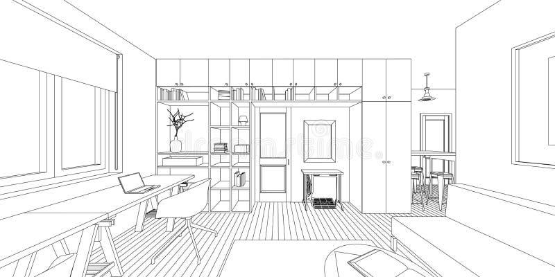 Dibujo interior libre illustration