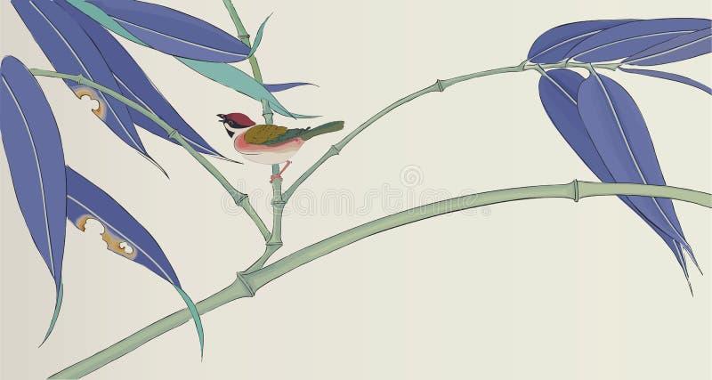 Dibujo japonés tradicional para su diseño stock de ilustración