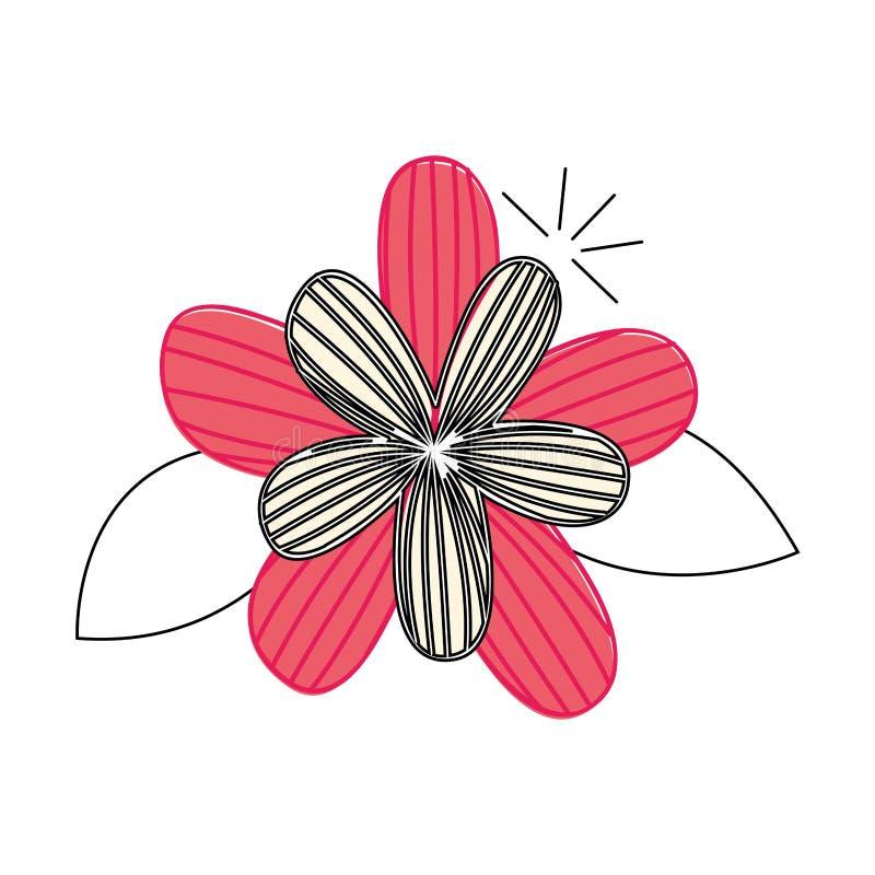 Dibujo lindo de la flor decorativo ilustración del vector