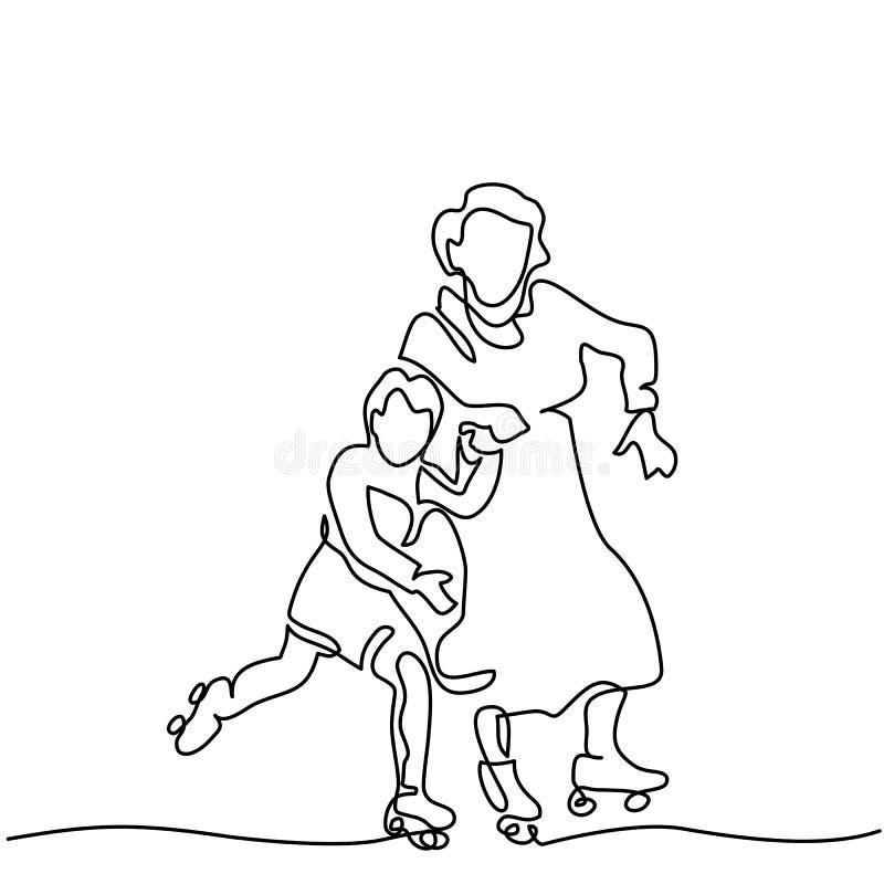 Dibujo lineal de mano de los pcteres de ruedas libre illustration