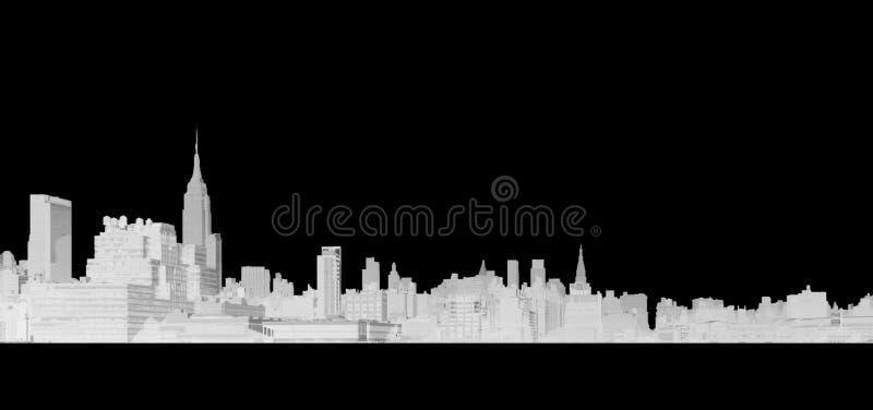 Dibujo lineal de New York City imagen de archivo libre de regalías