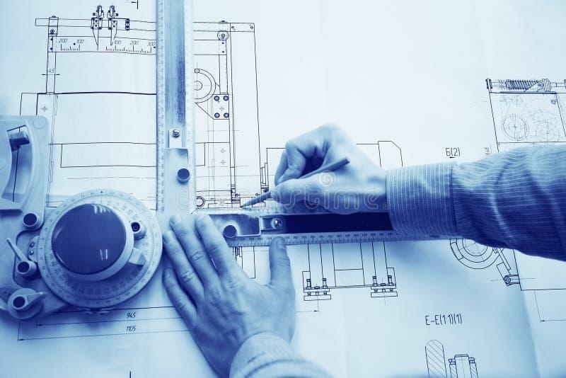 Dibujo manual del diseñador del concepto imagenes de archivo
