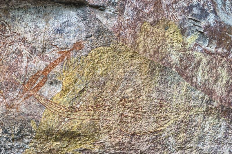 Dibujos antiguos de la roca foto de archivo libre de regalías