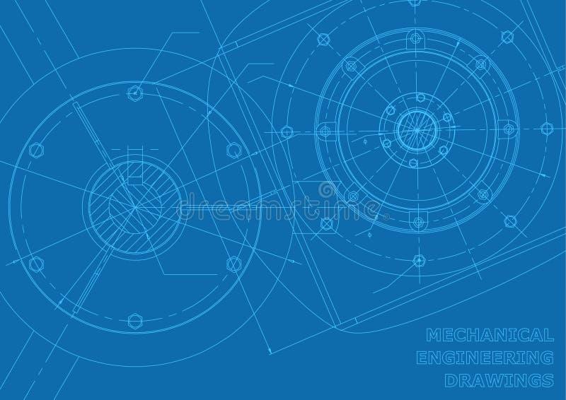 Dibujos azules de la ingeniería industrial libre illustration
